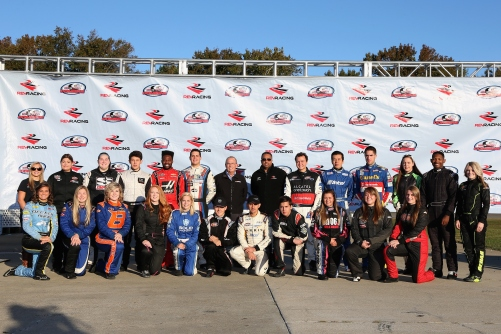 Group photo during the NASCAR Drive For Diversity Combine at Langley Speedway on October 20, 2015 in Hampton, Virginia. Credit: NASCAR Media